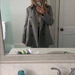 Grey Zara peacoat